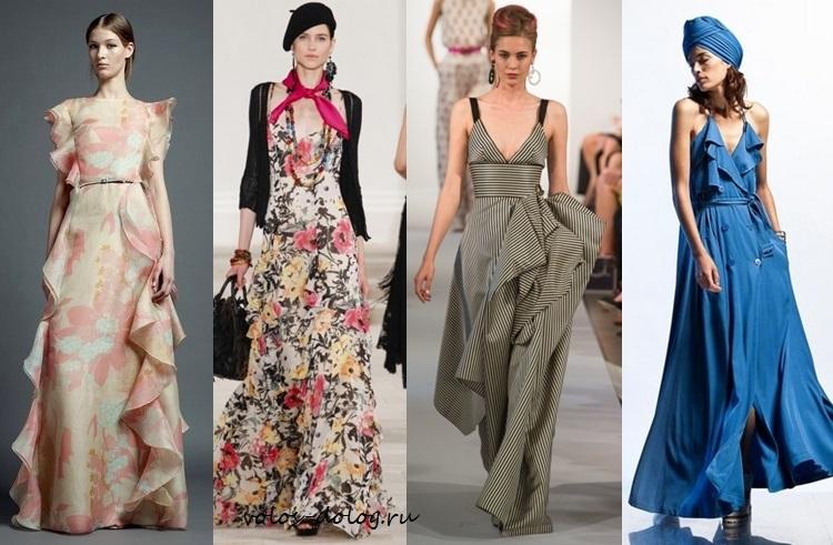 летние платья в пол 2013
