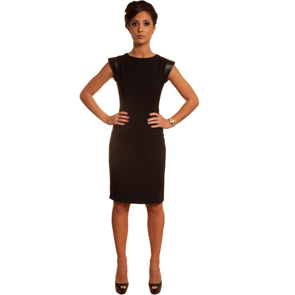 На фото модное деловое платье 2015