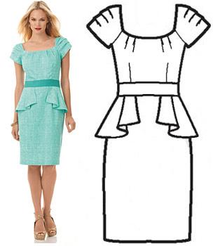 Женские платья с баской картинки